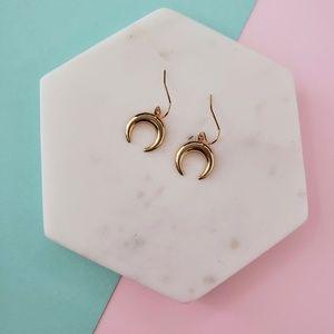 5 for $25 Gold Color Horn Moon Hook Earrings